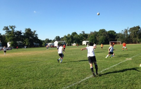 Men's soccer throws one in the bag