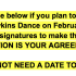The heading of the Sadie Hawkins dance petition created on a Google Doc by senior Laura Hillard. Student Government Organization president Kristin Newman and a Gender Equality Club president PD Stein, both seniors, spearheaded the effort to get 250 student signatures to get approval for the Sadie Hawkins dance Feb. 14.
