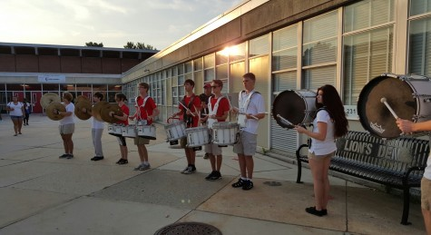 Drumline welcomes students for first day