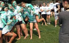 Seniors kick off final year with paint, food, fun