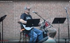 Principal Wynkoop performs Pearl Jam at Open Mic Night