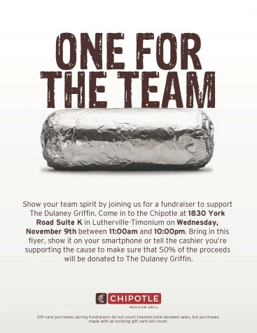 Griffin fundraiser at Chipotle set for Nov. 9