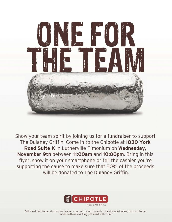 Griffin fundraiser at Chipotle set for Nov 9