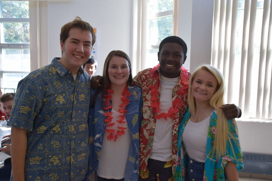 Spirit week: day one (Hawaiian shirt day)