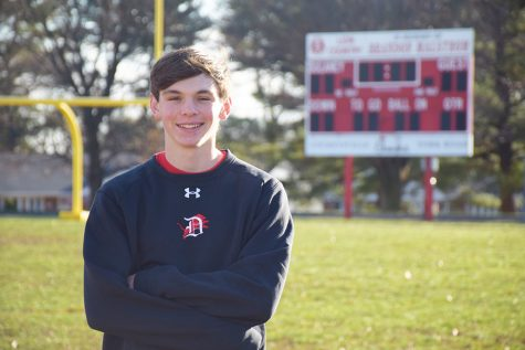 Junior vaulter runs, soars